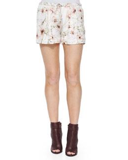 Summer Floral-Print Shorts