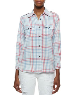 The Perfect Plaid Cotton Shirt