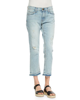 The Cropped Straight-Leg Jeans