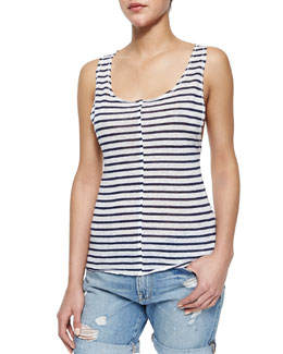 Le Muscle Tank with Stripes