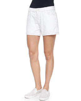 Joanie Low-Rise Denim Shorts, Roller Coaster