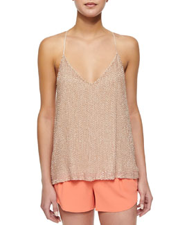 Lola Sequined Loose Racerback Tank