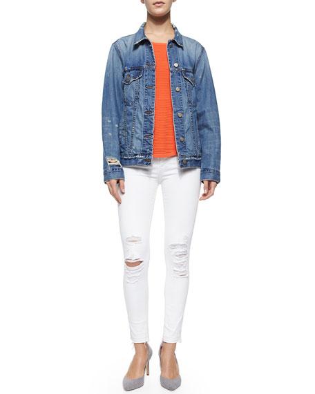 Low-Rise Skinny Crop Jeans, Demented