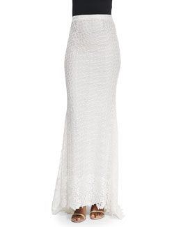 Roth Stretch-Lace Maxi Skirt