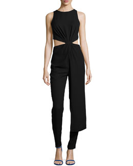 Sleeveless Twisted Cutout Jumpsuit