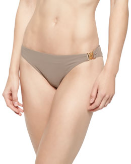 Solid Logo Hipster Swim Bottom, Sandstone