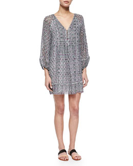 Sevigny Printed Silk Dress