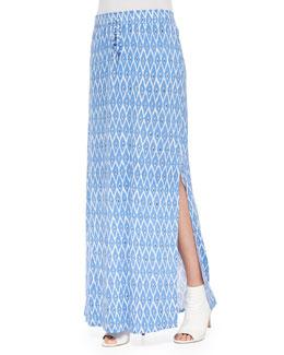 Molimo Printed Slub Maxi Skirt