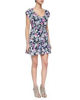 Belinda Floral-Print Silk Dress