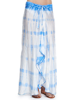 Salt Water Jewels Tie-Dye Maxi Skirt
