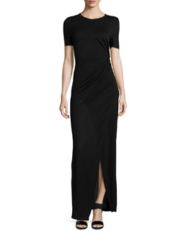 Magali Gathered Jersey Maxi Dress