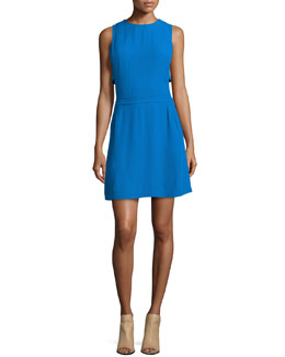 Jones Sleeveless Crepe Dress
