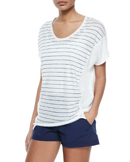 Striped Slub Cocoon Top