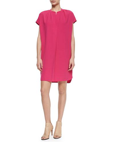 Short-Sleeve Popover Dress