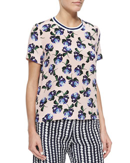 Paget Floral-Print Top