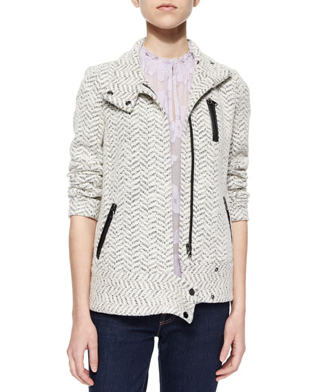 Terry Tweed Moto Jacket