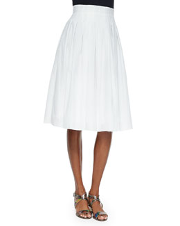 Novara Pleated A-Line Skirt