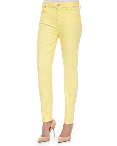 High-Rise Skinny Ankle Jeans, Dandelion