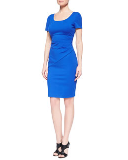 Bevina Short-Sleeve Fitted Dress