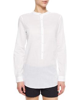 Jayton Long-Sleeve Cotton Blouse