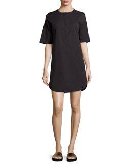 Floryn Half-Sleeve Poplin Dress