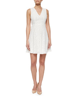 Mariam Portray Floral-Lace Dress, White
