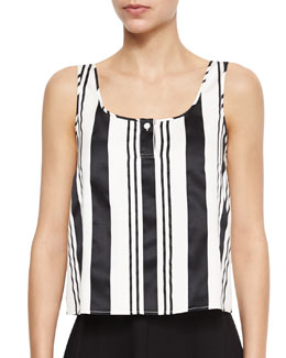Zelia Striped Sleeveless Top