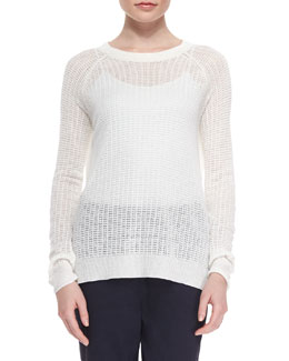 Innis Wide-Stitch Knit Sweater