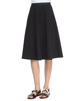 Zaikin A-Line Poplin Skirt, Black