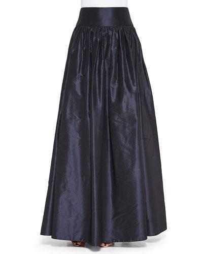 Taffeta Ball Skirt, Navy