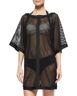 City Slick Sheer Mesh Coverup