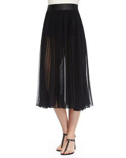 Classic Pleated Chiffon Skirt