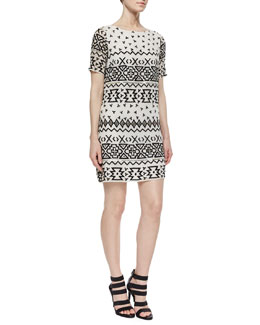 Jan Embroidered Shift Dress