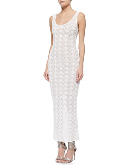 Myla Diamond-Pattern Fitted Maxi Dress