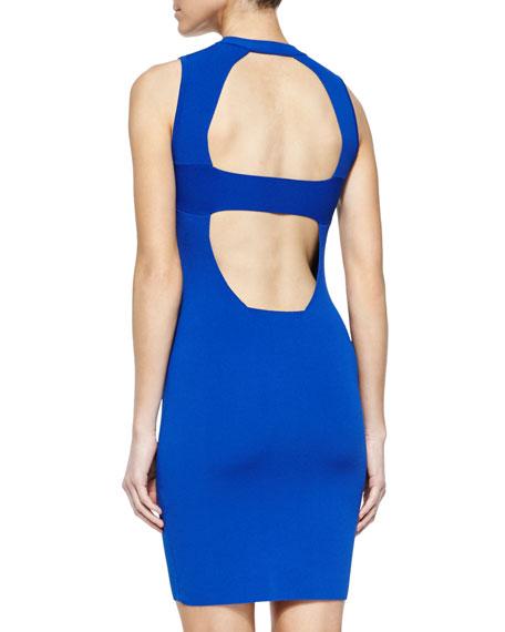 Sleeveless Open-Back Body-Conscious Dress