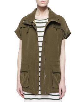 Tate Cargo-Pocket Cocoon Jacket