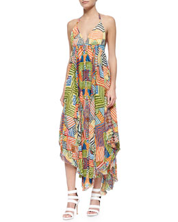 Ollie Printed Handkerchief-Hem Dress