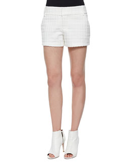 Patterned Cady Structured Shorts