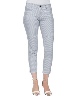 Dorie Striped Twill Skinny Pants