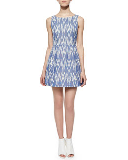 Epstein Printed Sleeveless Dress