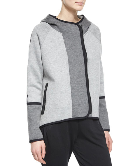 Margie Hooded Off-Center-Zip Jacket