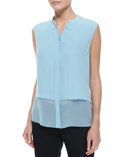 Eve Pintuck-Detail Blouse
