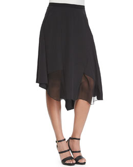 Sachi Skirt with Chiffon Panels