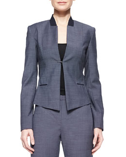 Donilyn Jacket W/ Jersey Trim
