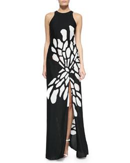 Glow Wings Printed Maxi Dress