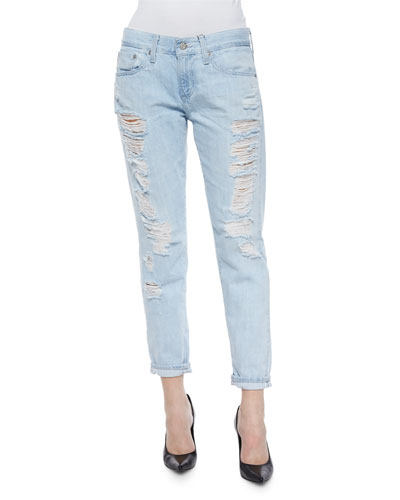 Nikki Cropped Ankle Jeans, 28 Years Shredded