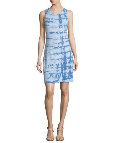 The Louella Tank Dress, Riverside Blue