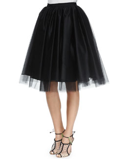 Justina Tulle Skirt, Black
