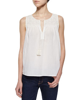 Rasala Sleeveless Tie-Neck Blouse