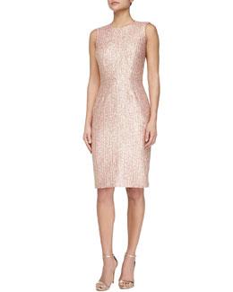 Sleeveless Tweed Cocktail Dress
